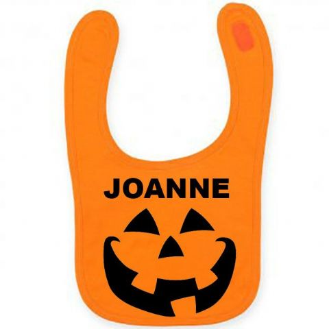 Personalised Halloween Pumpkin Babies Bib!